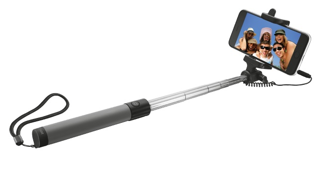 TRUST Wired Foldable Selfie Stick black