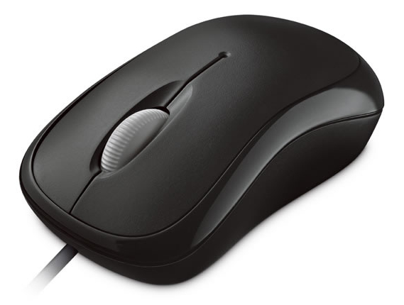 Microsoft Basic Optical Mouse Mac/Win USB, černá