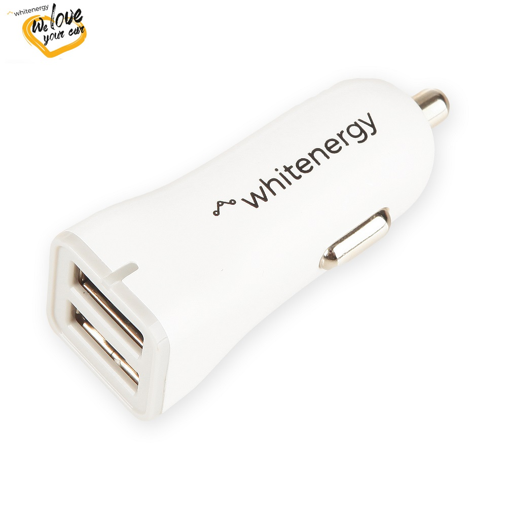 WE auto adaptér 2x USB 5V 2400mA Blister White