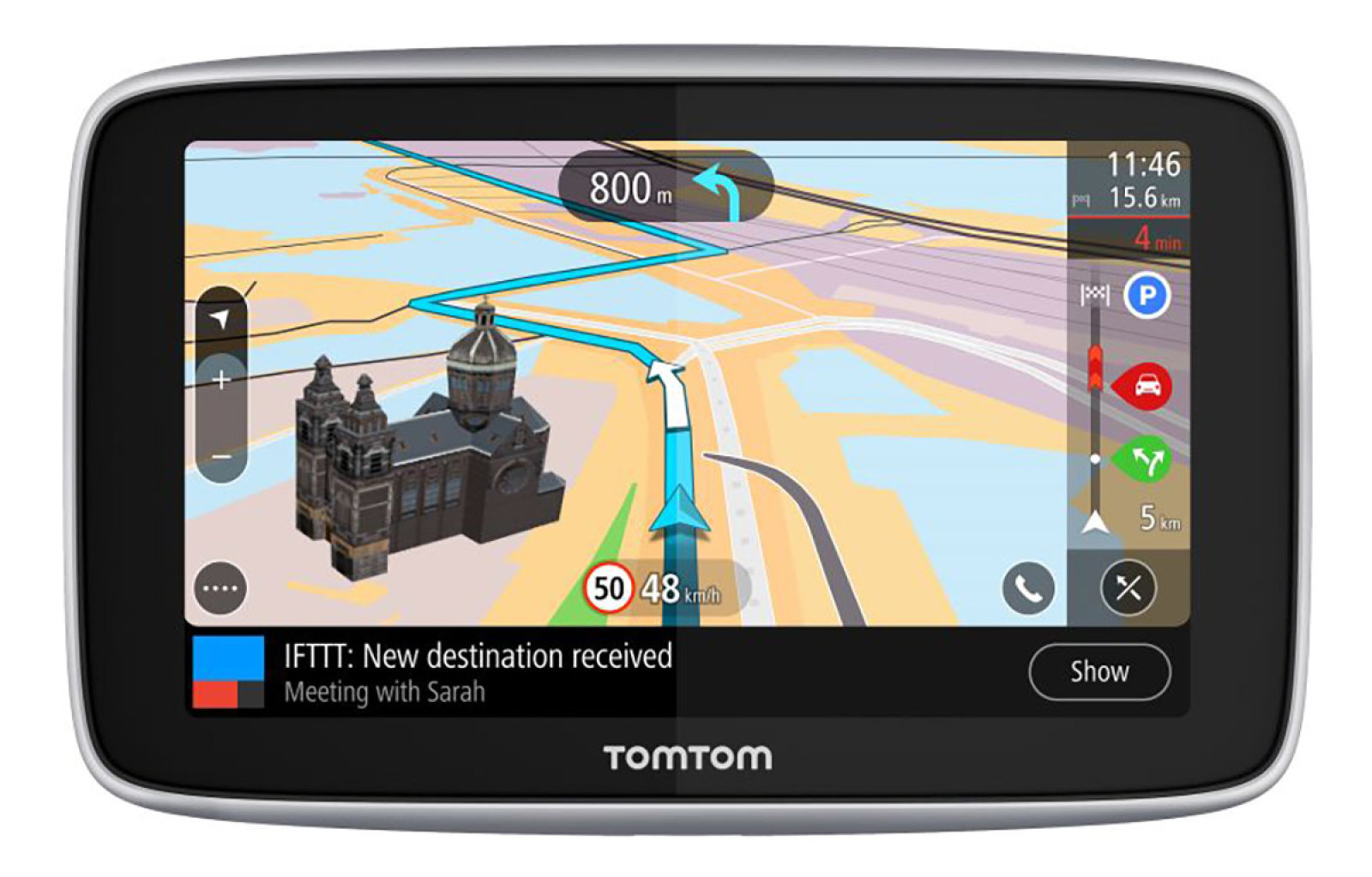 "TomTom GO Premium 5"" World, Wi-Fi, LIFETIME mapy"
