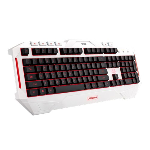 ASUS Cerberus arctic gaming keyboard (US layout)