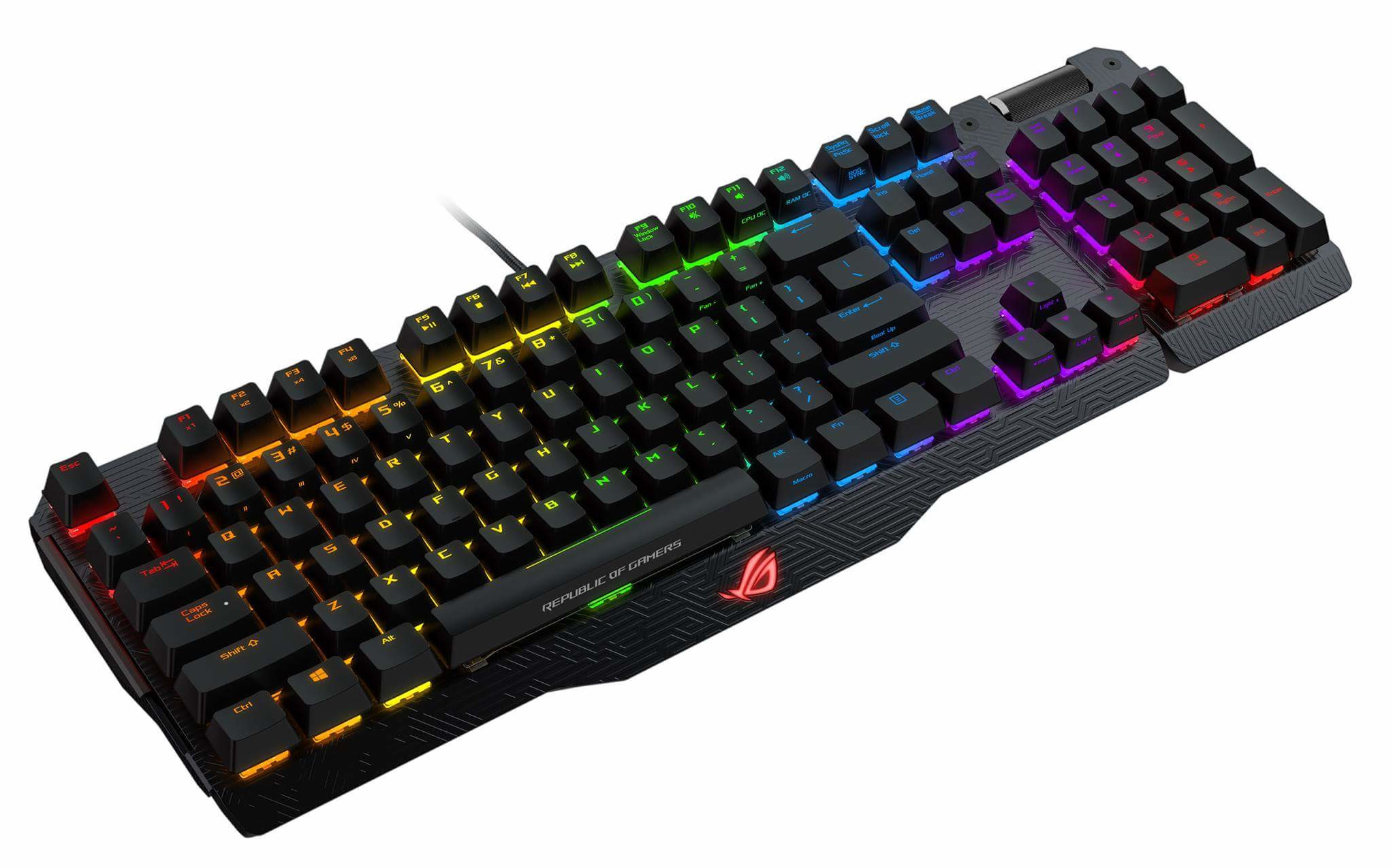 ASUS ROG MA01 Claymore RED/CHERRY/US - RGB  mech. keyboard w/ LED lightning US layout
