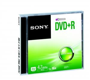 Média DVD+R SONY DPR-47; 4.7GB; 16x; 1ks