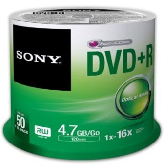Média DVD+R SONY DPR-47; 4.7GB; 16x; 50ks SPINDL