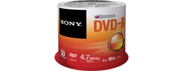 Média DVD-R SONY DMR-47; 4.7GB; 16x; 50ks SPINDL