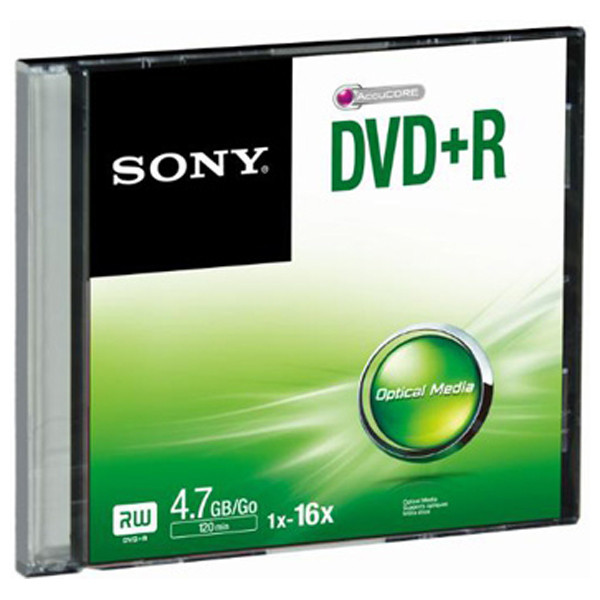 Média DVD+R SONY; 4.7GB; 1 ks SLIM (120 min.)