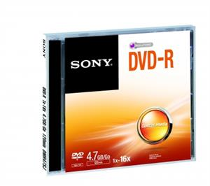 Média DVD-R SONY DMR-47; 4.7GB; 16x;  1ks