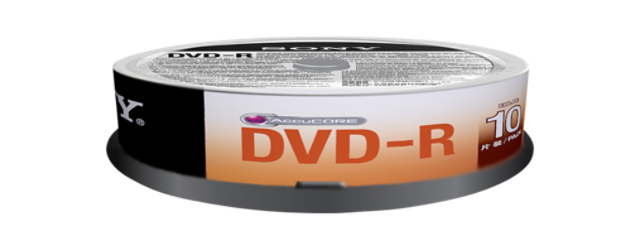 Média DVD-R SONY DMR-47; 4.7GB; 16x; 10ks Spindle
