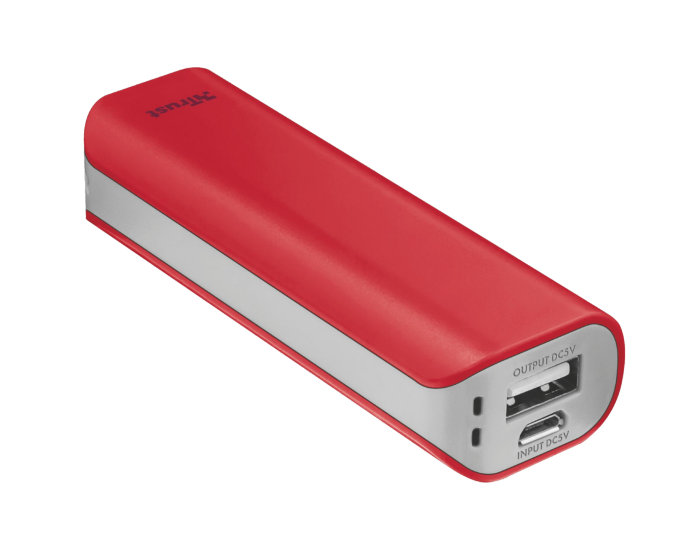 TRUST Primo PowerBank 2200 - red