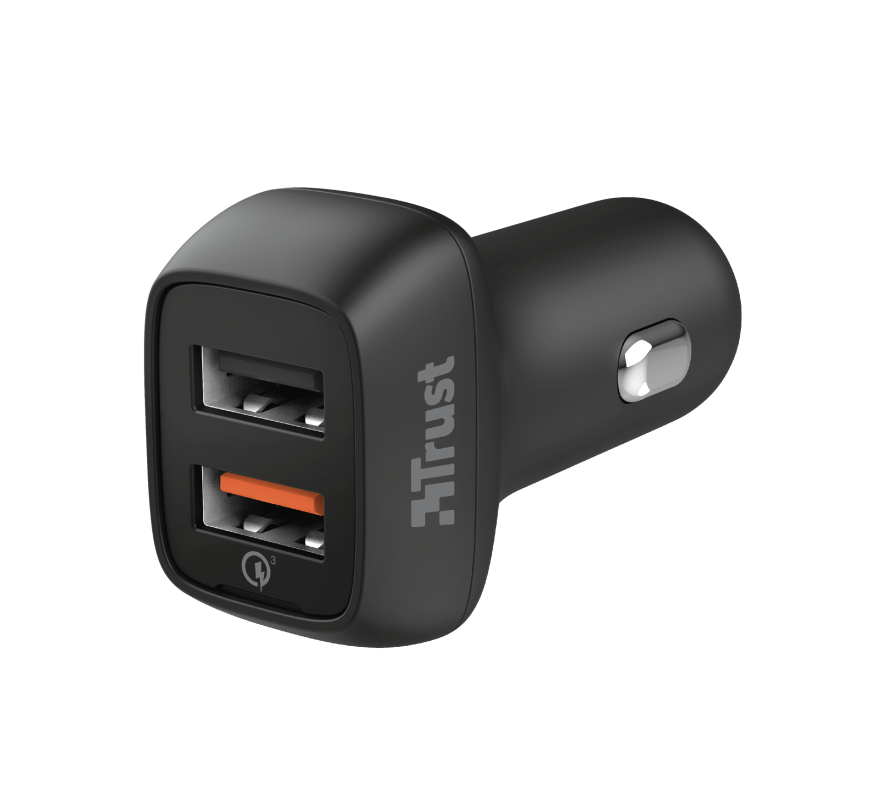 TRUST QMAX USB A+A CAR CHARGER QC3 30W
