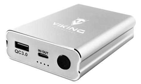 VIKING powerbank QC3.0 10000mah, Stříbrná