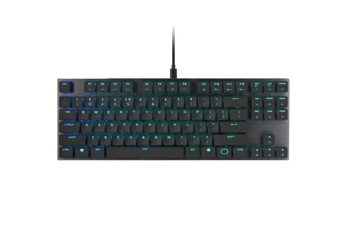 COOLER MASTER MK SK630 RGB mechanická klávesnice US layout CHERRY MX RED LOW PROFILE