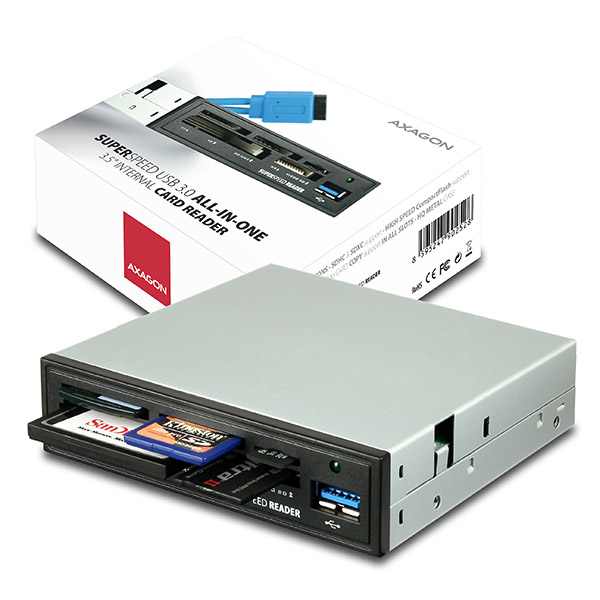 "AXAGON CRI-S3, USB 3.0 interní 3.5"" čtečka 5-slot ALL-IN-ONE"