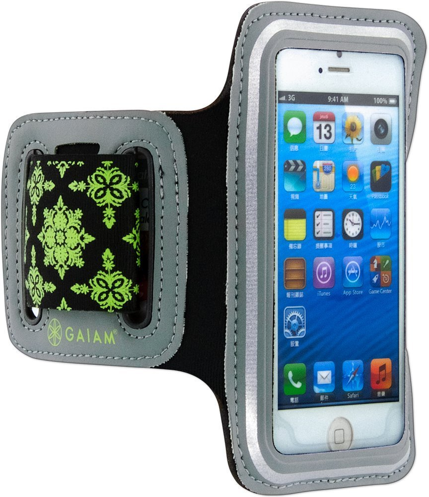 GAIAM Sport Armband Green - small phone