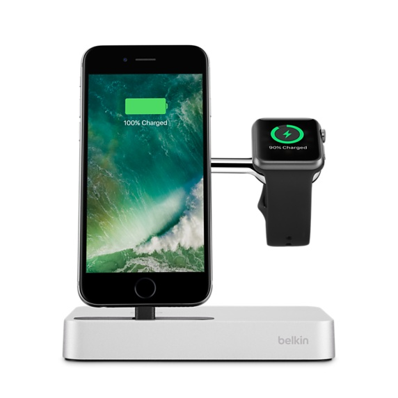 BELKIN VALET Charge dock for iPhone & Apple watch - Silver