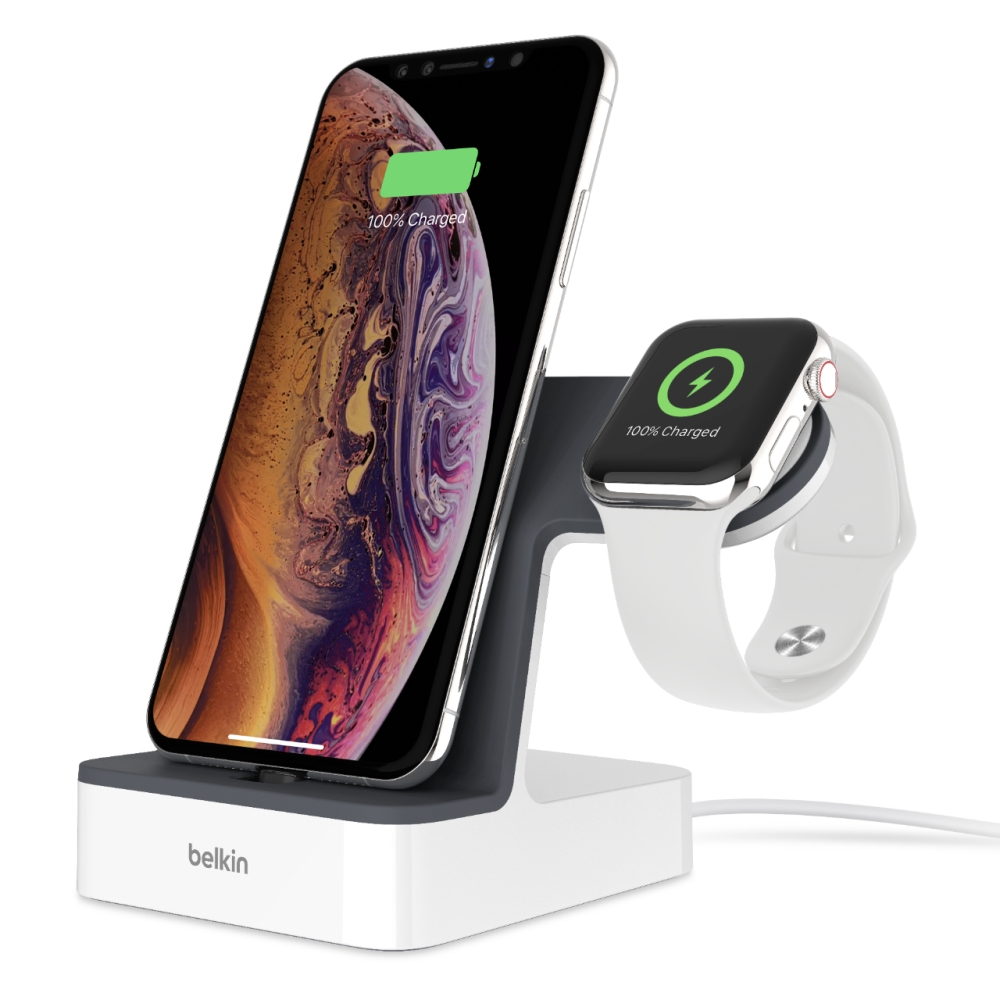 BELKIN Charge dock for iPhone & Apple Watch, bílý