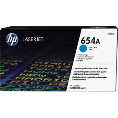 HP 654A - azurový Contract Toner, CF331AC