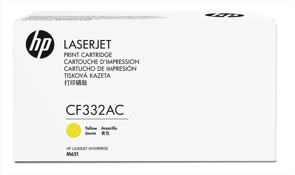 HP 654A - žlutý Contract Toner, CF332AC