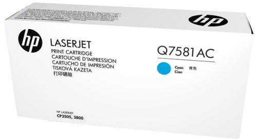 HP azurový Contract Toner, Q7581AC