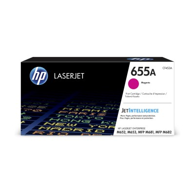 HP 655A purpurová LaserJet Cartridge, CF453A