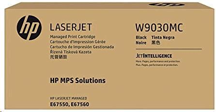 HP Black Managed LJ Toner Cartridge, W9030MC