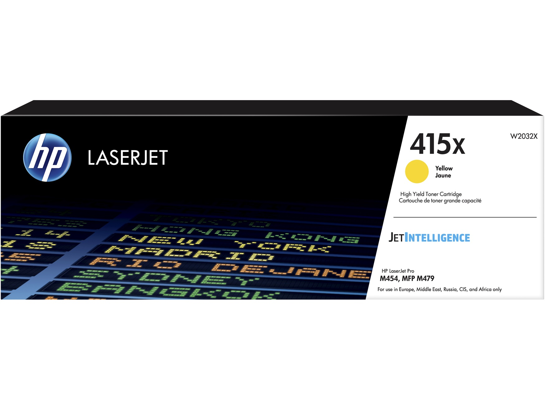 HP 415X Yellow LaserJet Toner Cartridge, W2032X