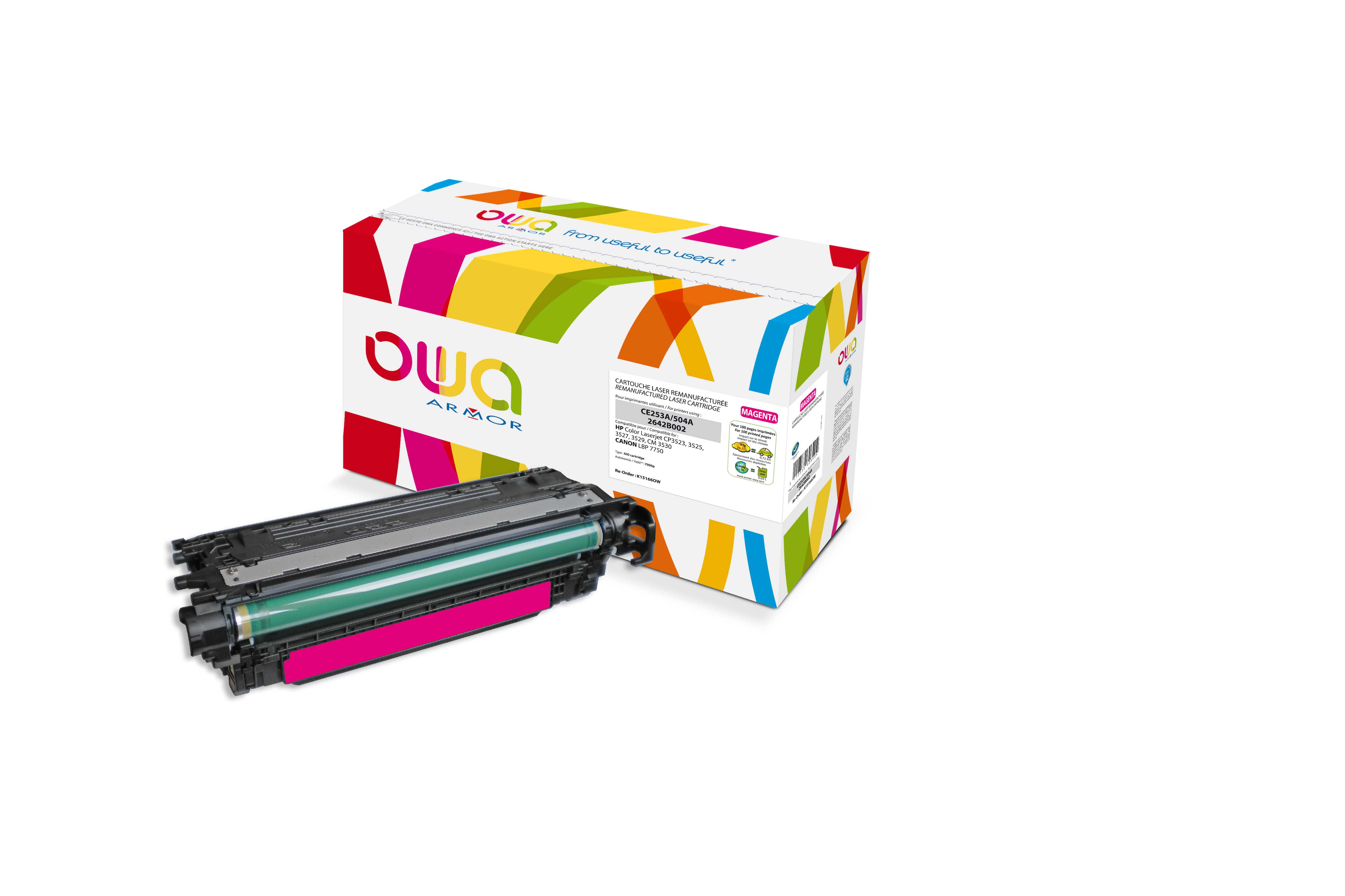 OWA Armor toner pro HP CLJ CP3525 (QCE253A),7.000s, M