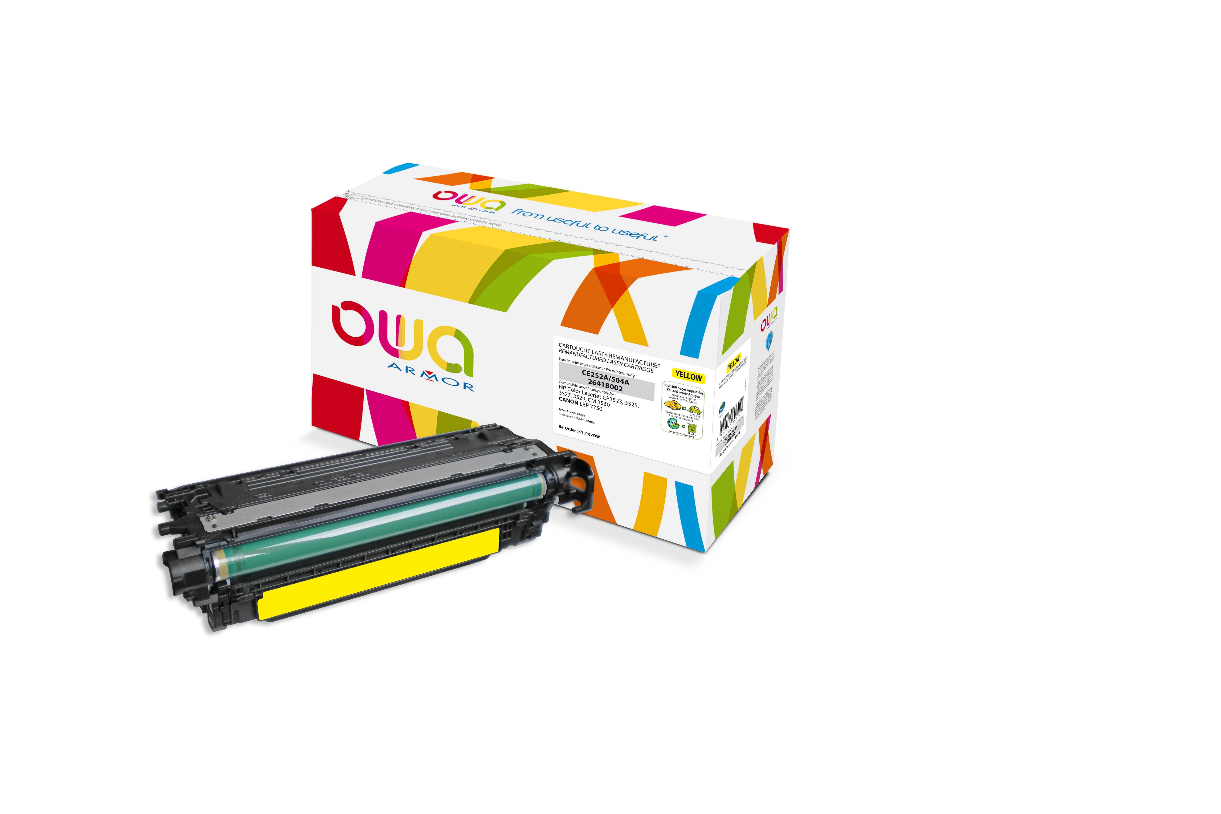 OWA Armor toner pro HP CLJ CP3525 (CE252A),7.000s, Y