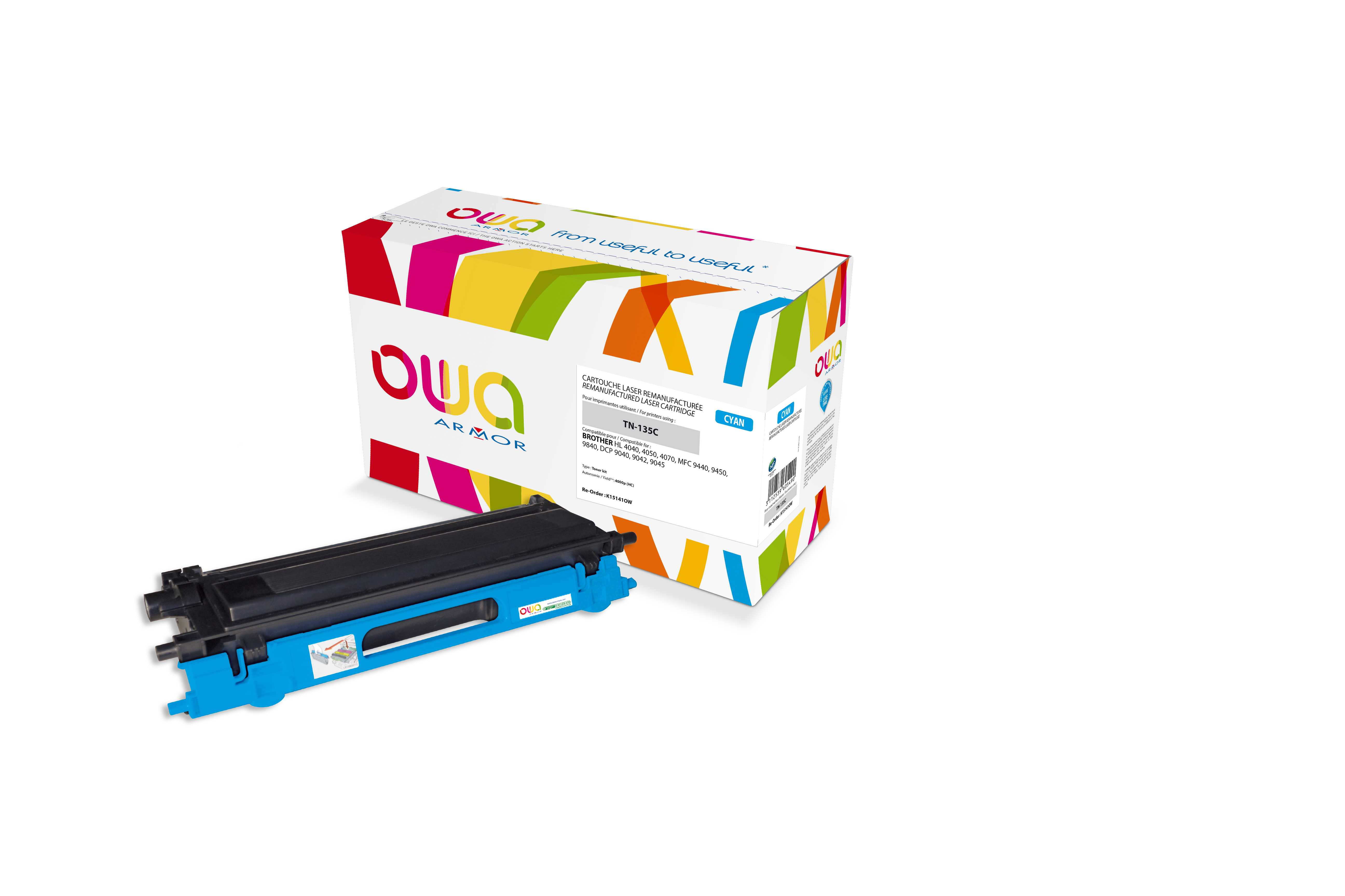 OWA Armor toner pro Brother HL4040, 4.000str (TN135C)
