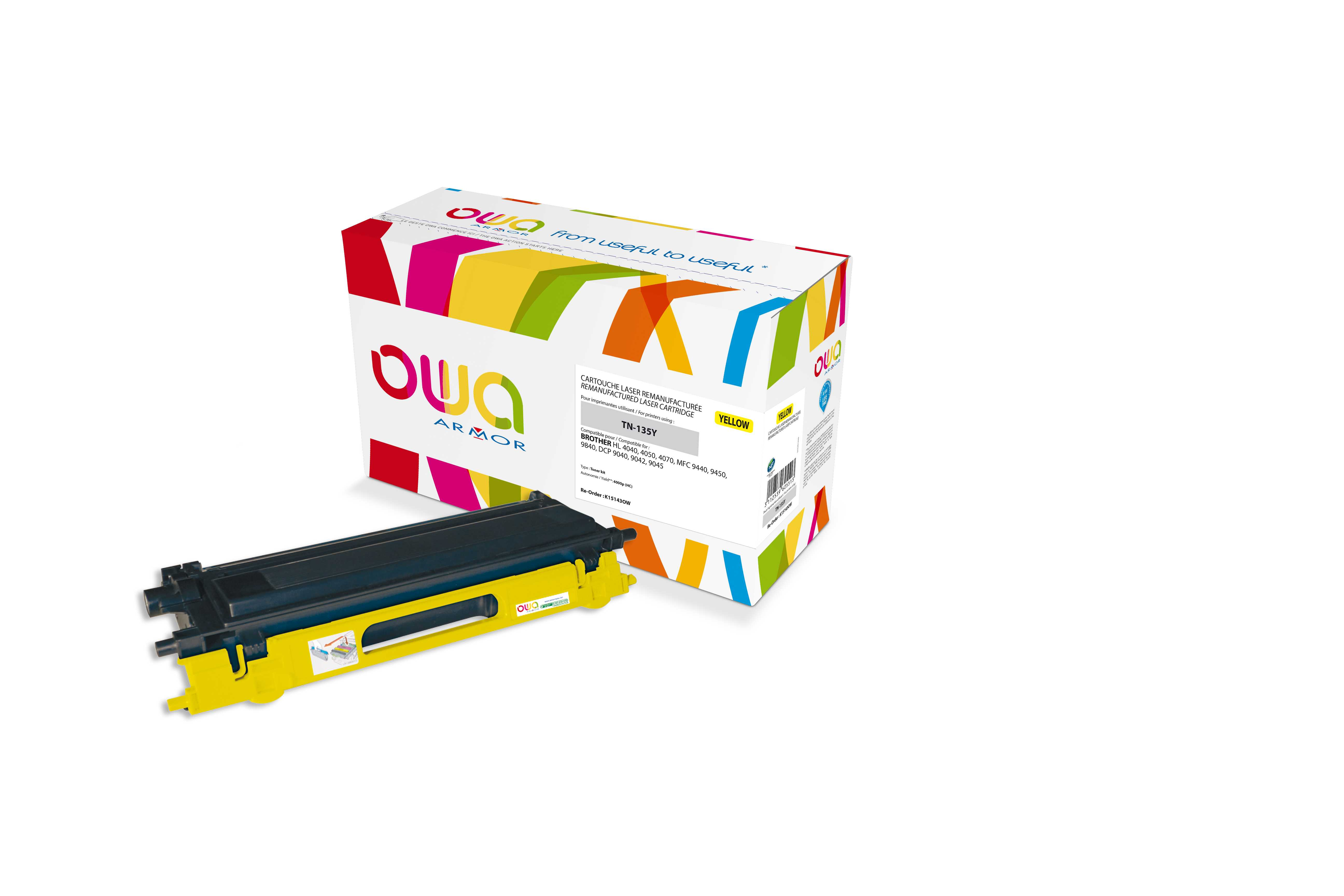 OWA Armor toner pro Brother HL4040, 4.000str (TN135Y)