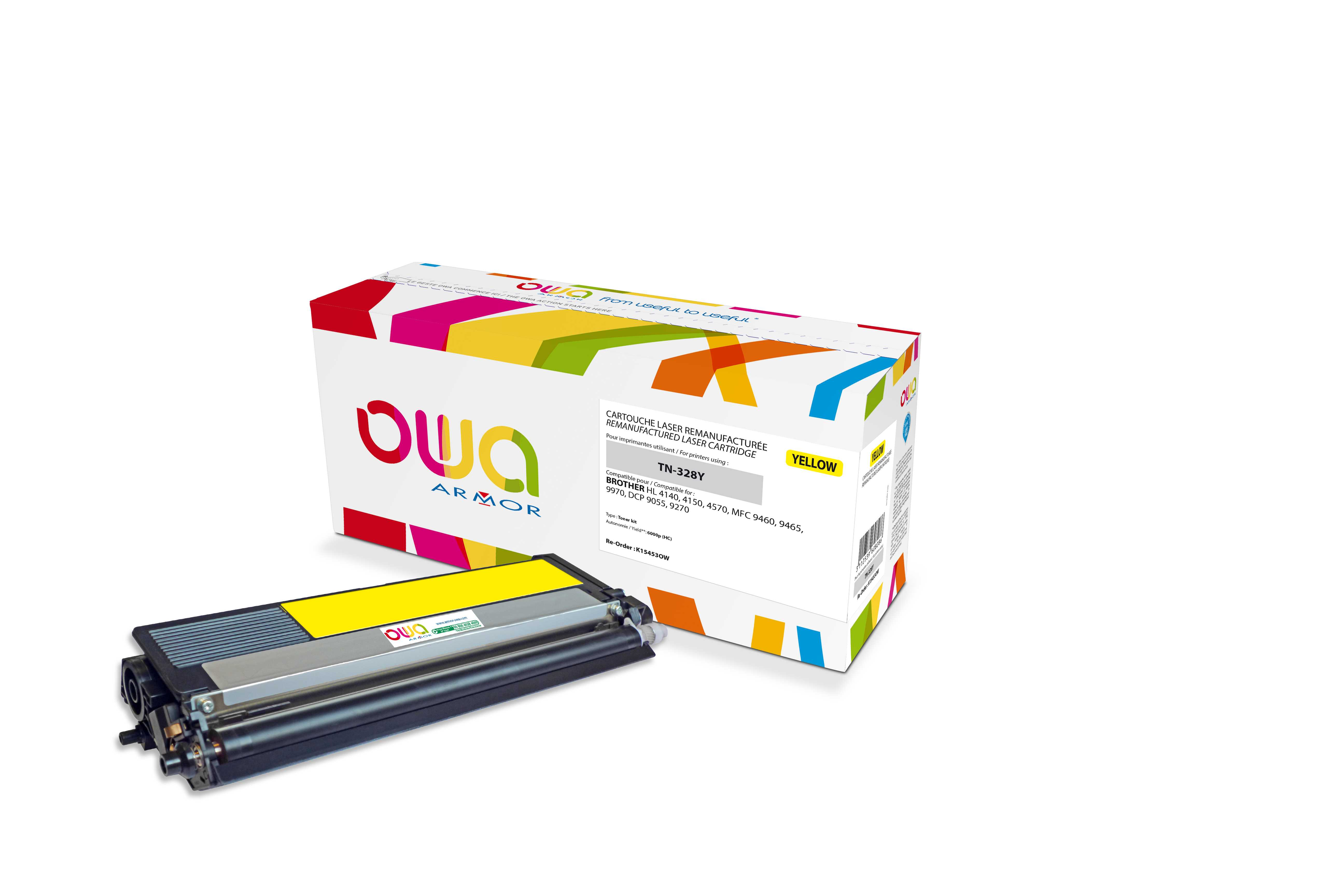 OWA Armor toner pro Brother,6.000str (TN328Y) Ye