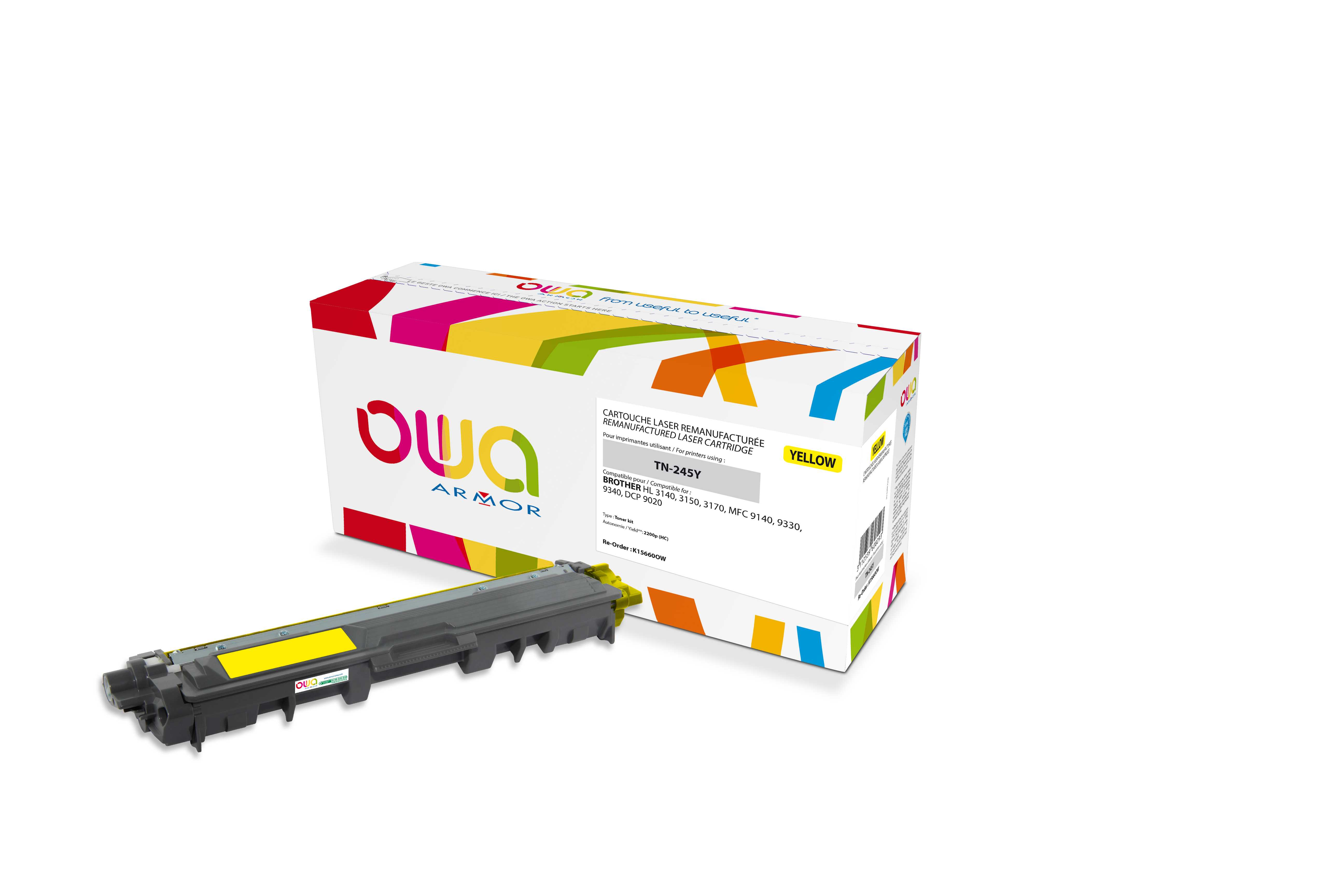 OWA Armor toner pro Brother HL-3140 2.200s (TN245Y)