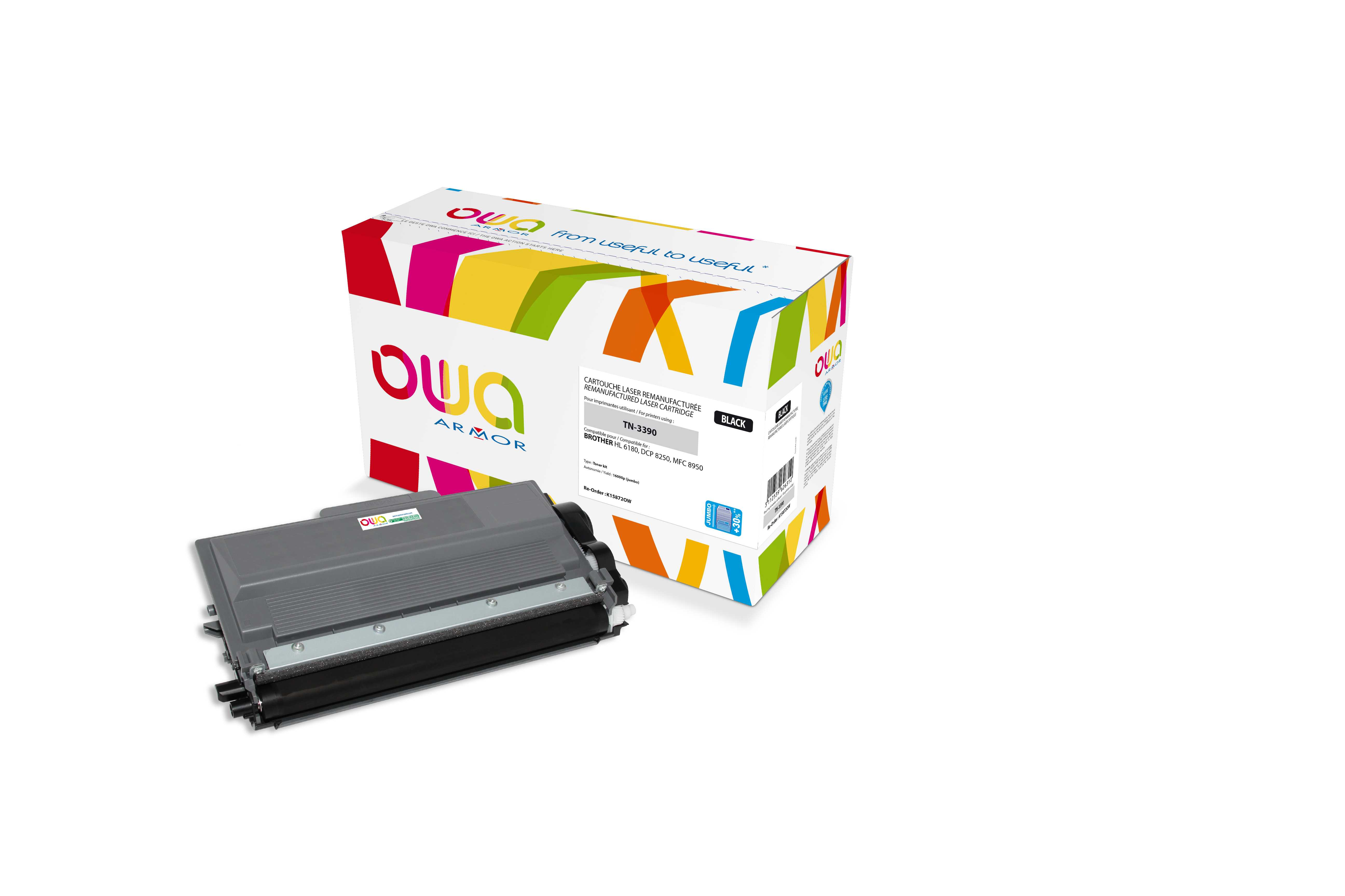 OWA Armor toner pro Brother HL-6180 16.000s (TN3390)