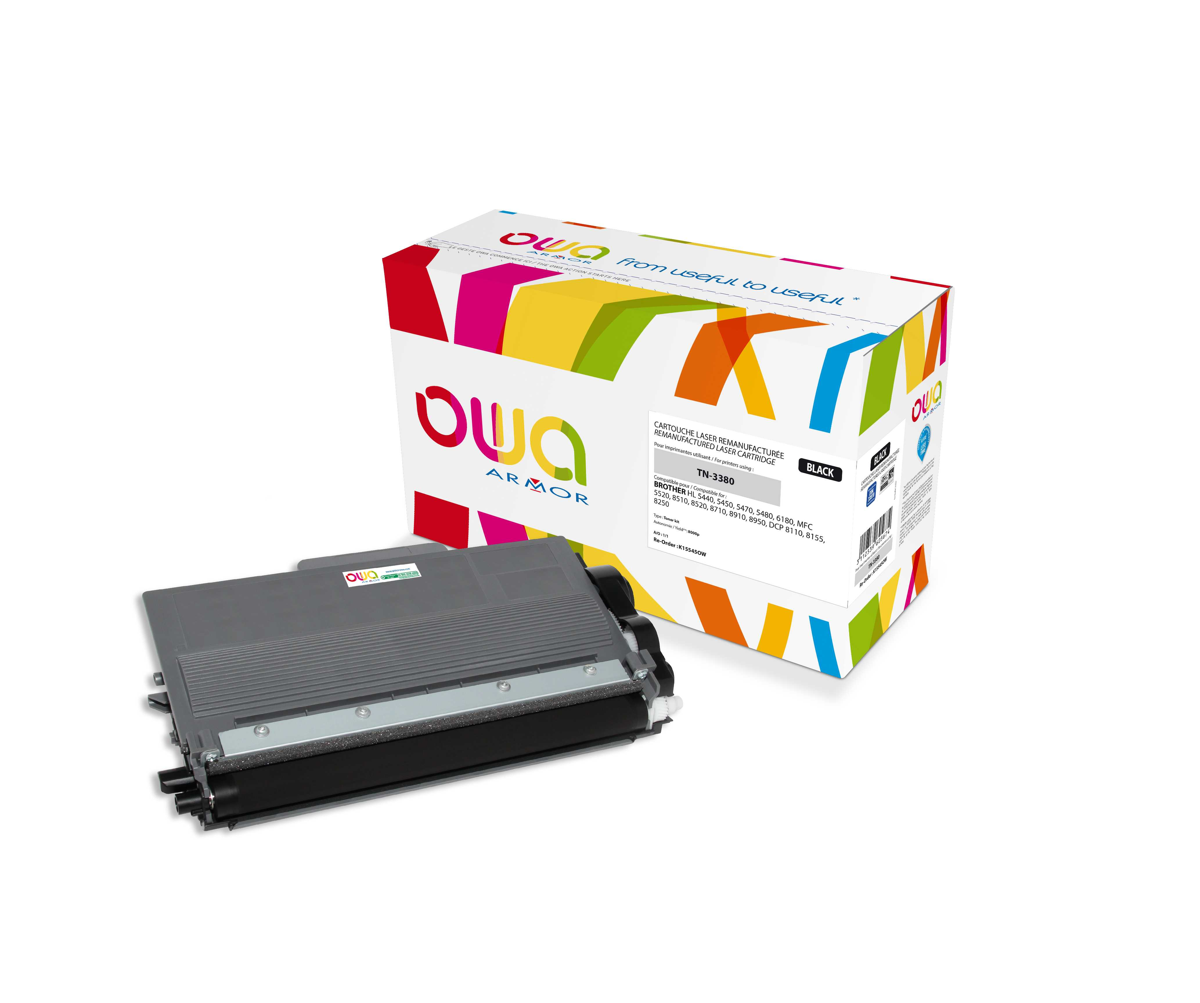 OWA Armor toner pro Brother,8.000str (TN3380) Bk