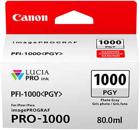 Canon PFI-1000 PGY, photo šedý