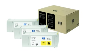 HP no 83 - žlutý UV ink - 3 pack, C5075A
