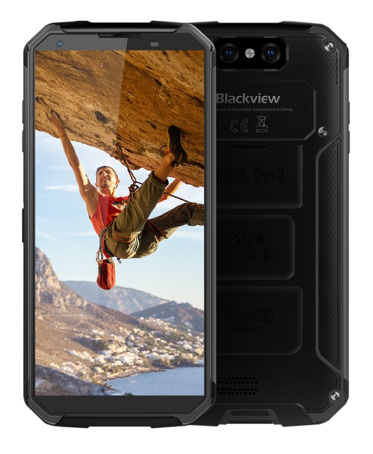 "iGET Blackview GBV9500 Black odolný telefon, 5,7"" FHD, 4GB+64GB, DualSIM, 4G, IP69K, Android 8.1,NFC"