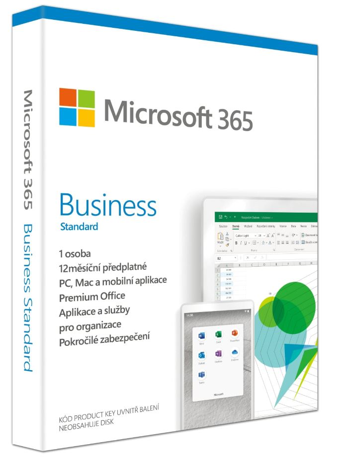 Microsoft 365 Business Standard P6 Mac/Win, 1 rok, CZ