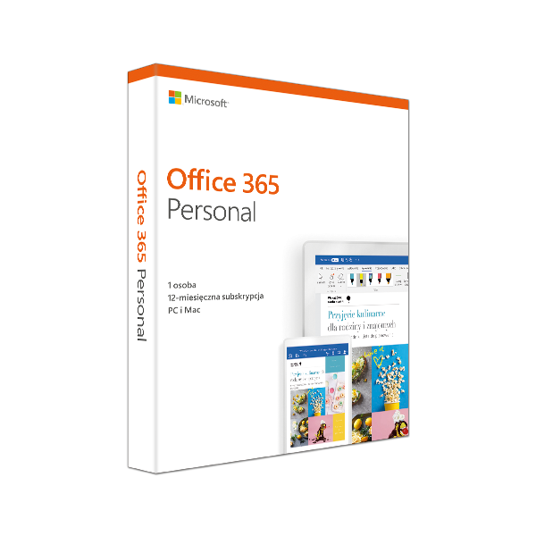 Office 365 Personal Mac/Win Polish Subscription P4
