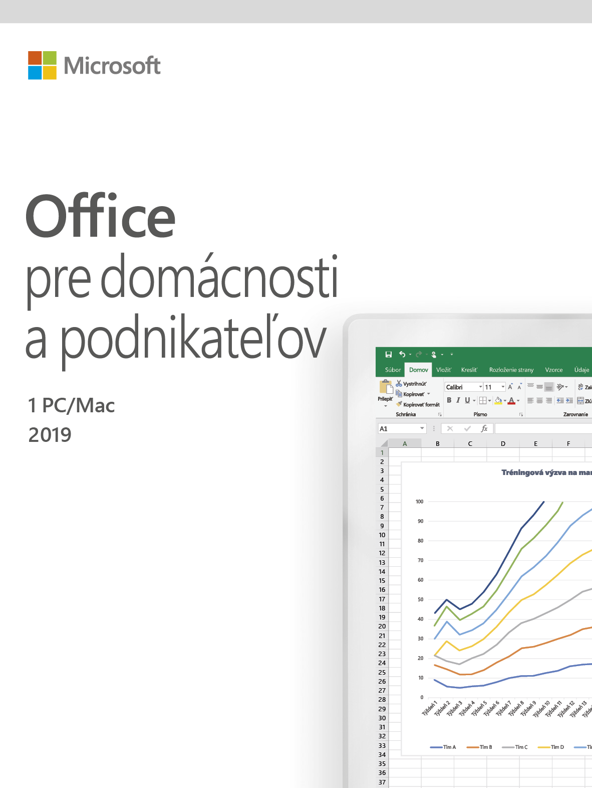 Office Home and Business 2019 Slovak EuroZone Medialess
