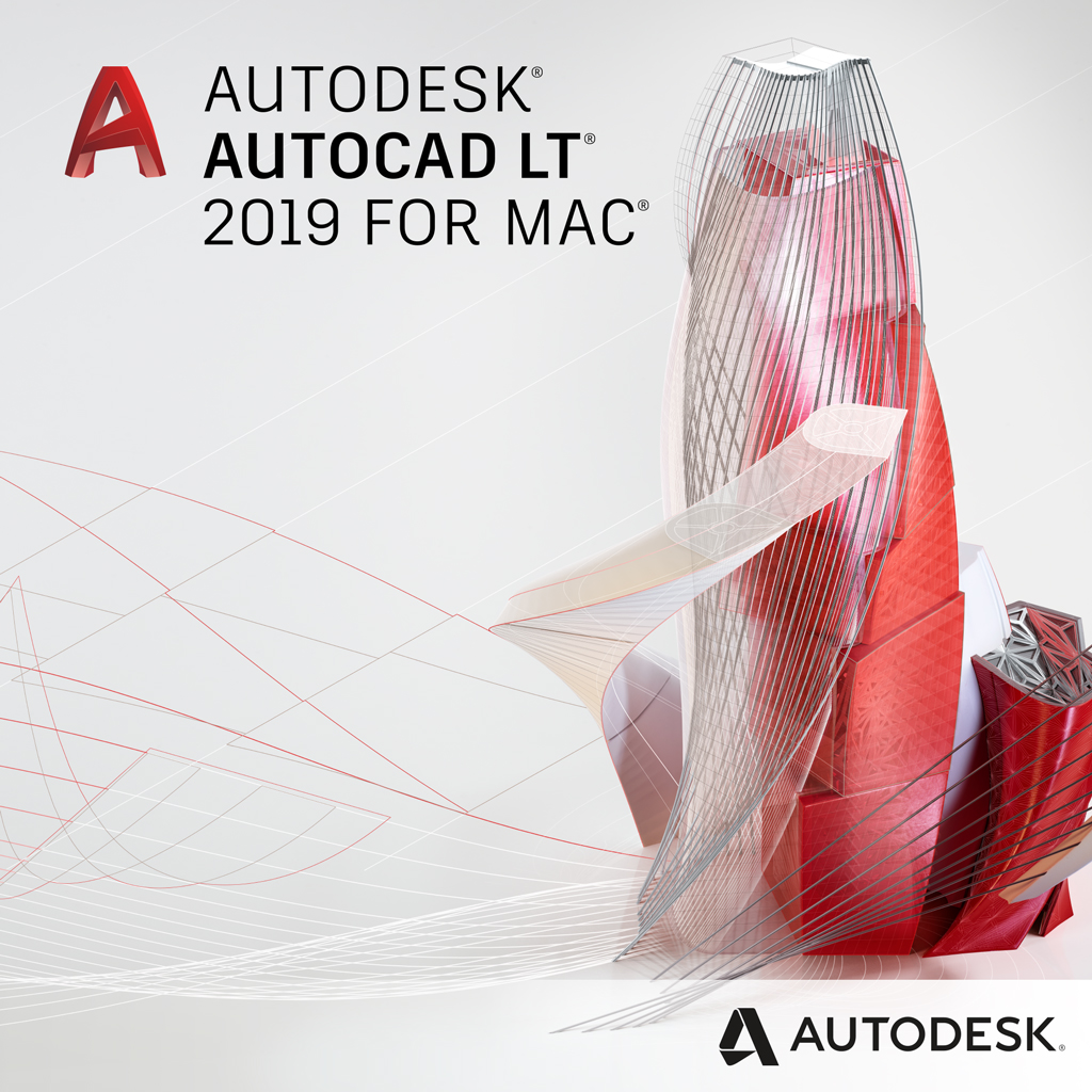 AutoCAD LT for Mac  2019 Commercial New Single-user ELD 1-Year Subscription
