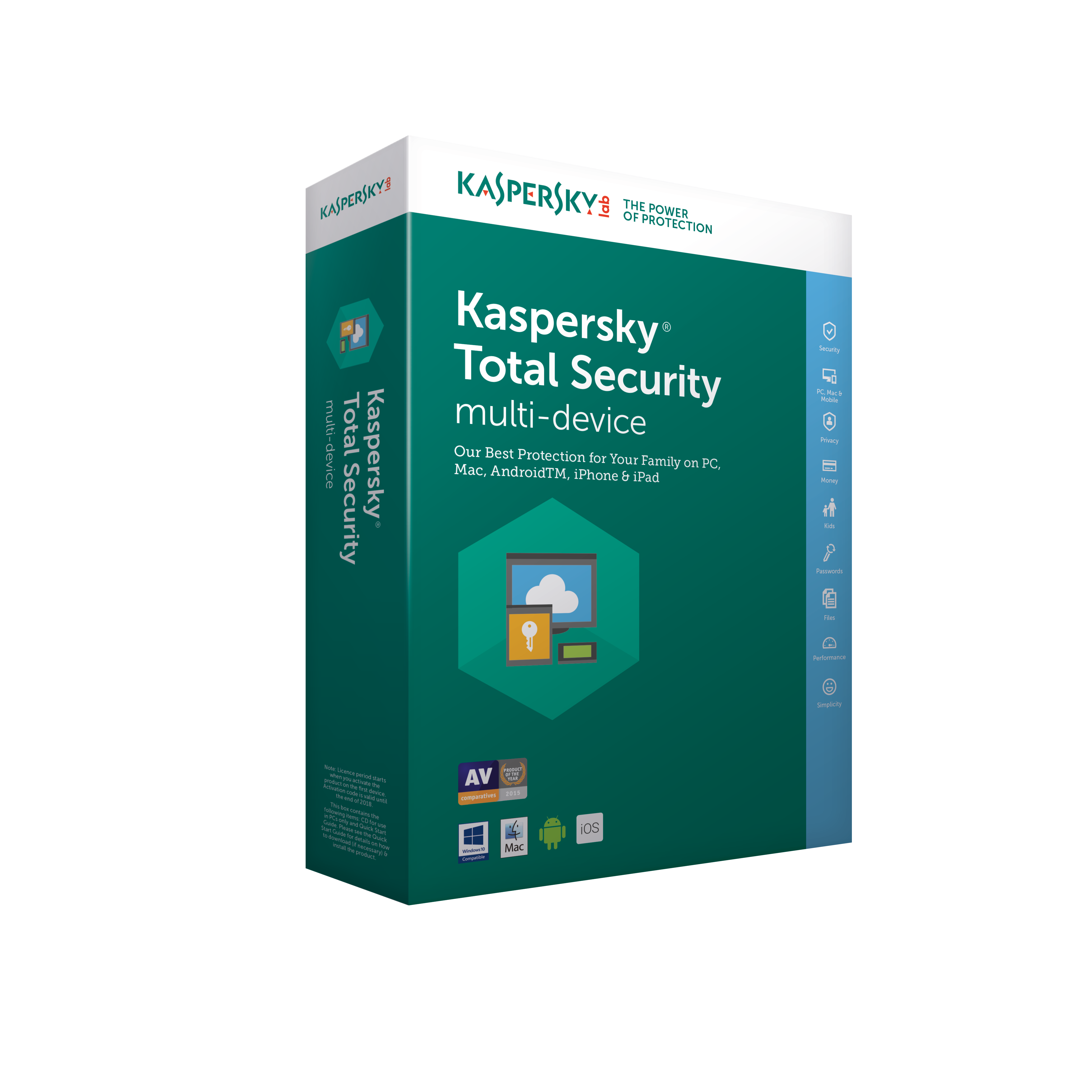 Kaspersky Total Security 2018, 3x, 2 roky, obnova