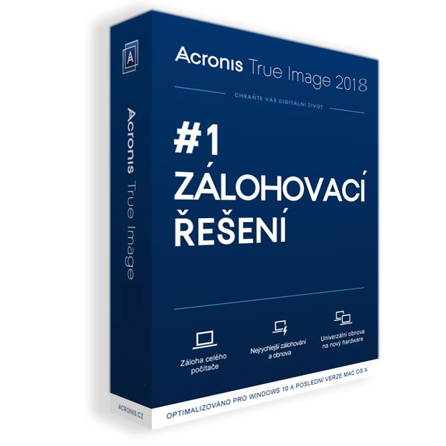 Acronis True Image 2018 - 1 Computer - BOX Upgrade