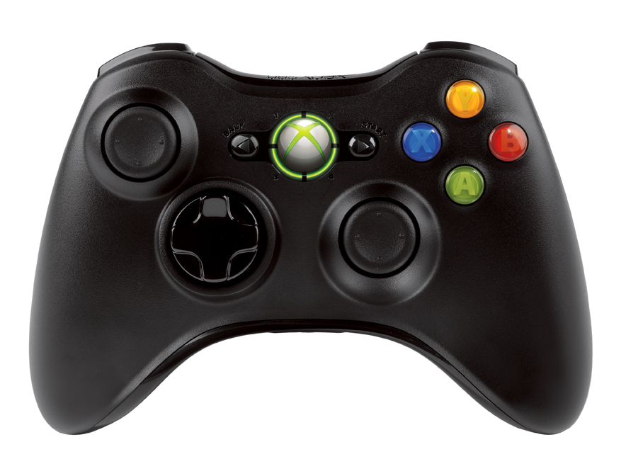XBOX 360 Wireless Controller Black - akce