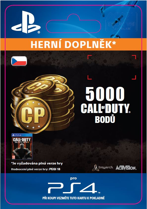 ESD CZ PS4 - 4,000 (+1,000 Bonus) Call of Duty Poi