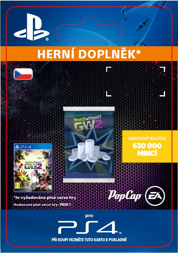 ESD CZ PS4 - Plants vs. Zombies Garden Warfare 2: 630,000 Epic Coins Pack