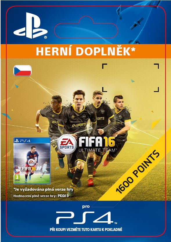 ESD CZ PS4 - 1,600 FIFA 16 Points