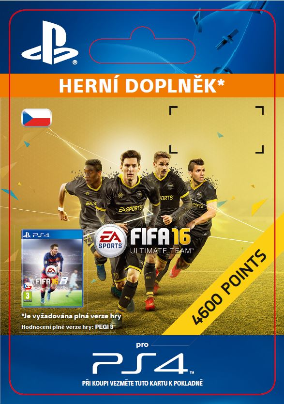 ESD CZ PS4 - 4,600 FIFA 16 Points