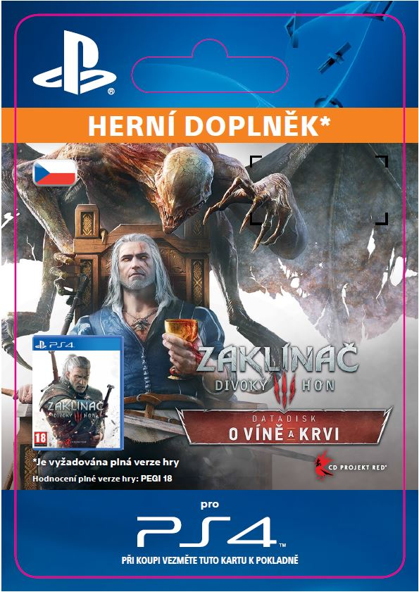 "ESD CZ PS4 - The Witcher 3: Wild Hunt €"" Blood and Wine"