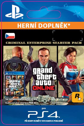 ESD CZ PS4 - GTA Online: Criminal Enterprise Starter Pack